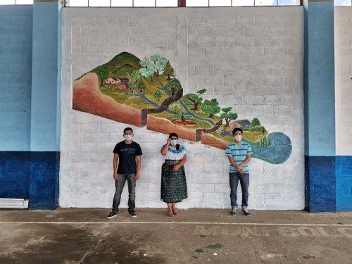 AMSCLAE promueve educación ambiental a través de murales ambientales