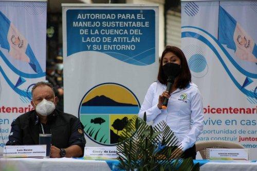 Municipalidad de San Marcos La Laguna junto a la AMSCLAE, MARN y COPRESAM inauguran proyecto de paneles solares en Planta de Tratamiento de Agus Residuales